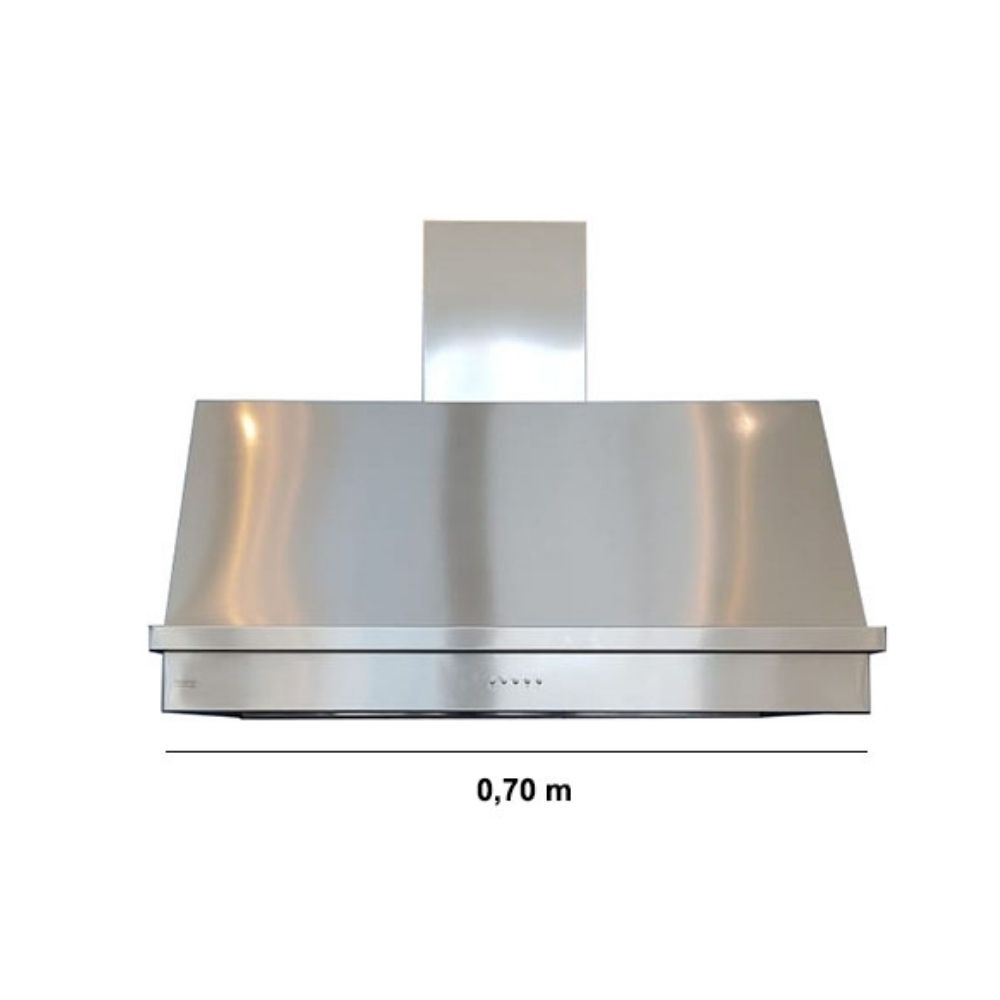Coifa Inox 430 Roma 0,70m - 700 X 650mm  - Sua Casa Gourmet e Cia