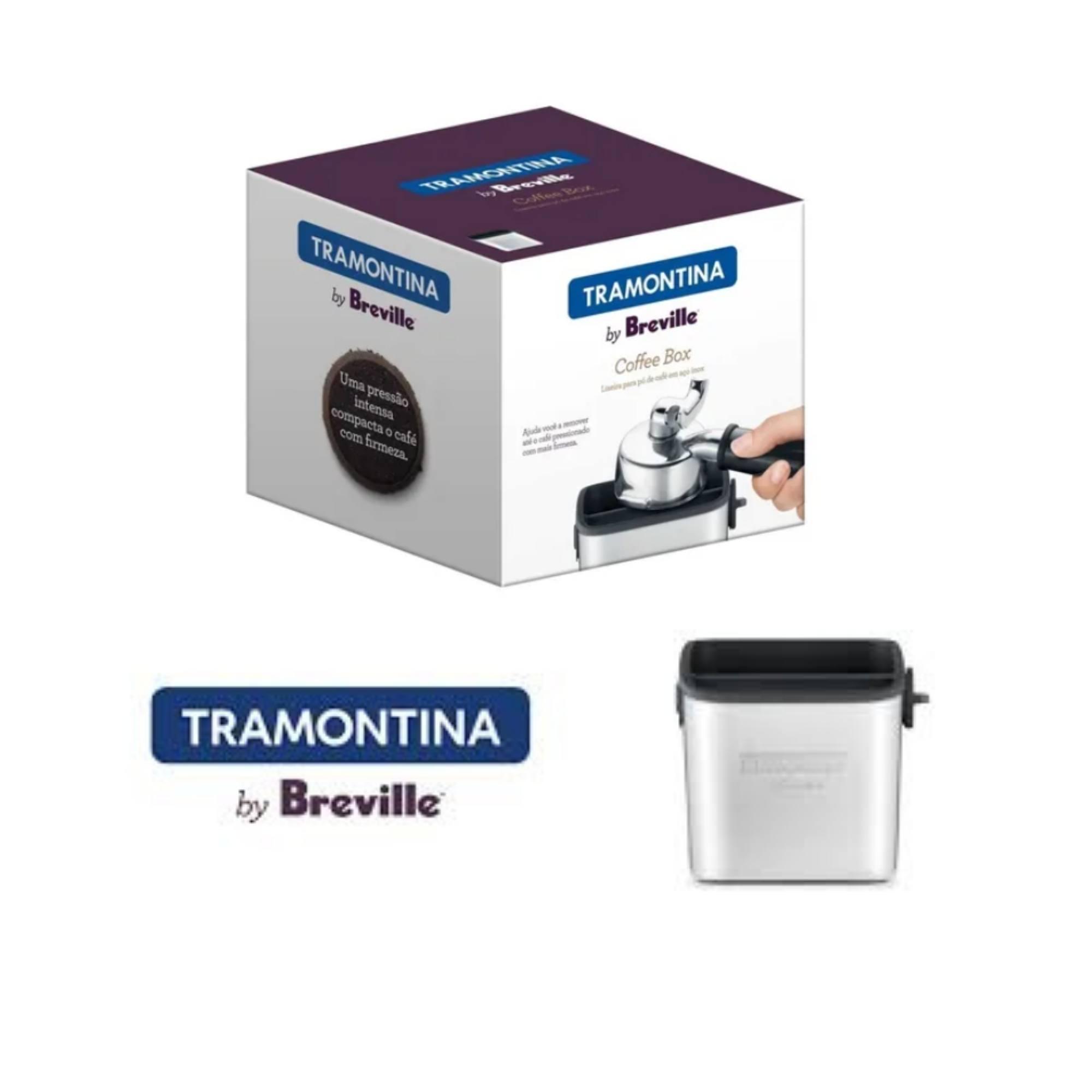 Coletor De Borra Café Tramontina By Breville Aço Inox 0,5 L  - Sua Casa Gourmet e Cia