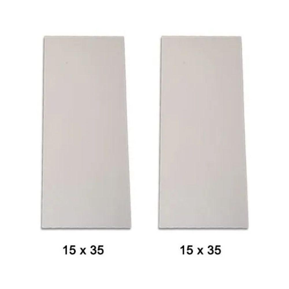 Conjunto de 2 Pedras Refratárias 15x35 para Assar Pizza, Pão ou Esfiha  - Sua Casa Gourmet e Cia