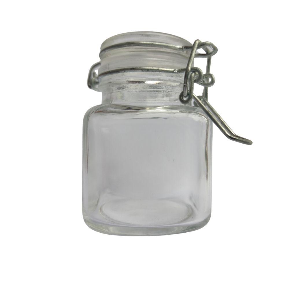 Conjunto de Mini Potes Hermeticos para Temperos Quadrado com 6 unidades  - Sua Casa Gourmet e Cia