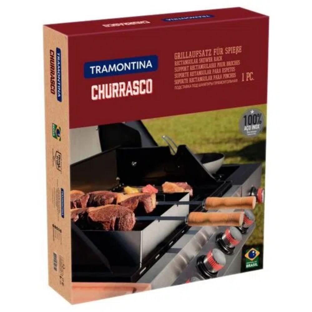Conjunto Gourmet Suporte Espeto Tramontina Churrasco  - Sua Casa Gourmet e Cia