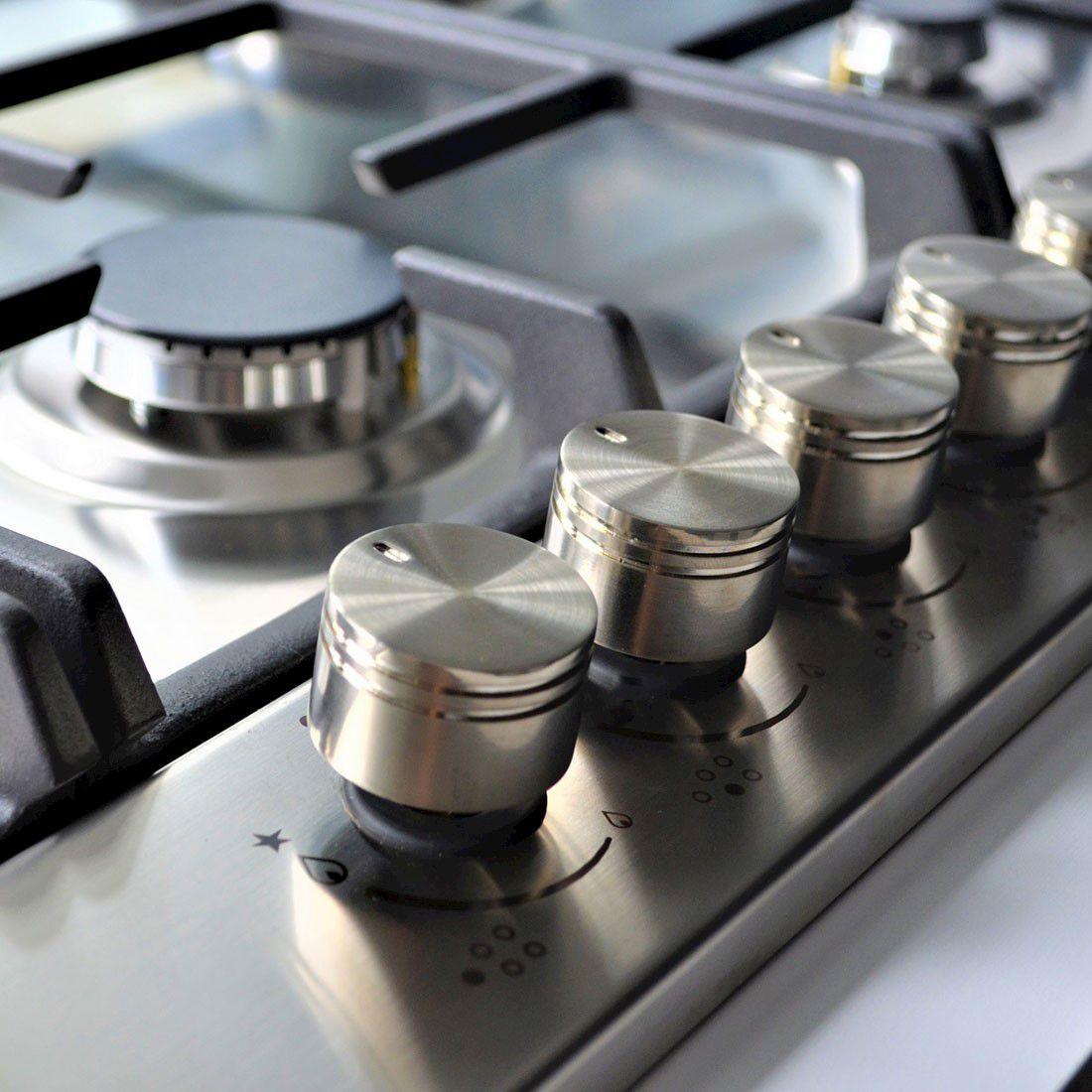 Cooktop Artigiano Elanto Semiprofissional a Gás 5 Bocas Inox 91cm 220V