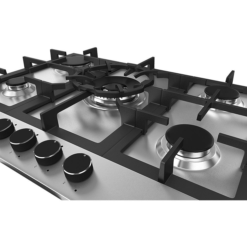 Cooktop Debacco Zurique 70cm Inox 5 Queimadores  - Sua Casa Gourmet e Cia