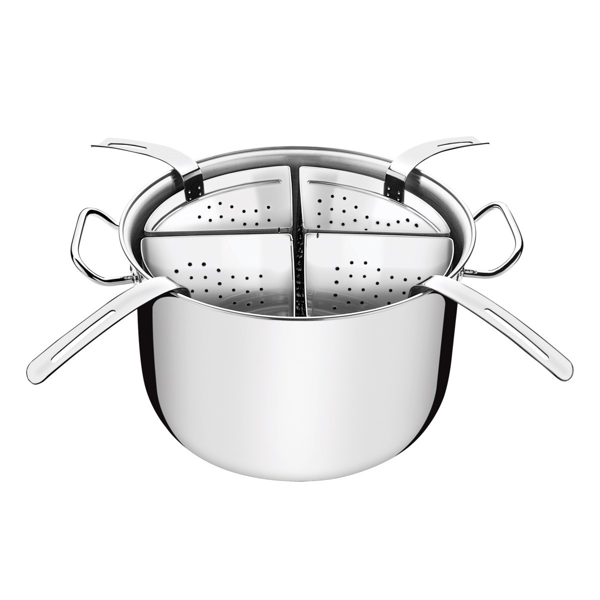 Cozi-Pasta Aço Inox 4 Recipientes 30cm 13,5L  - Sua Casa Gourmet e Cia