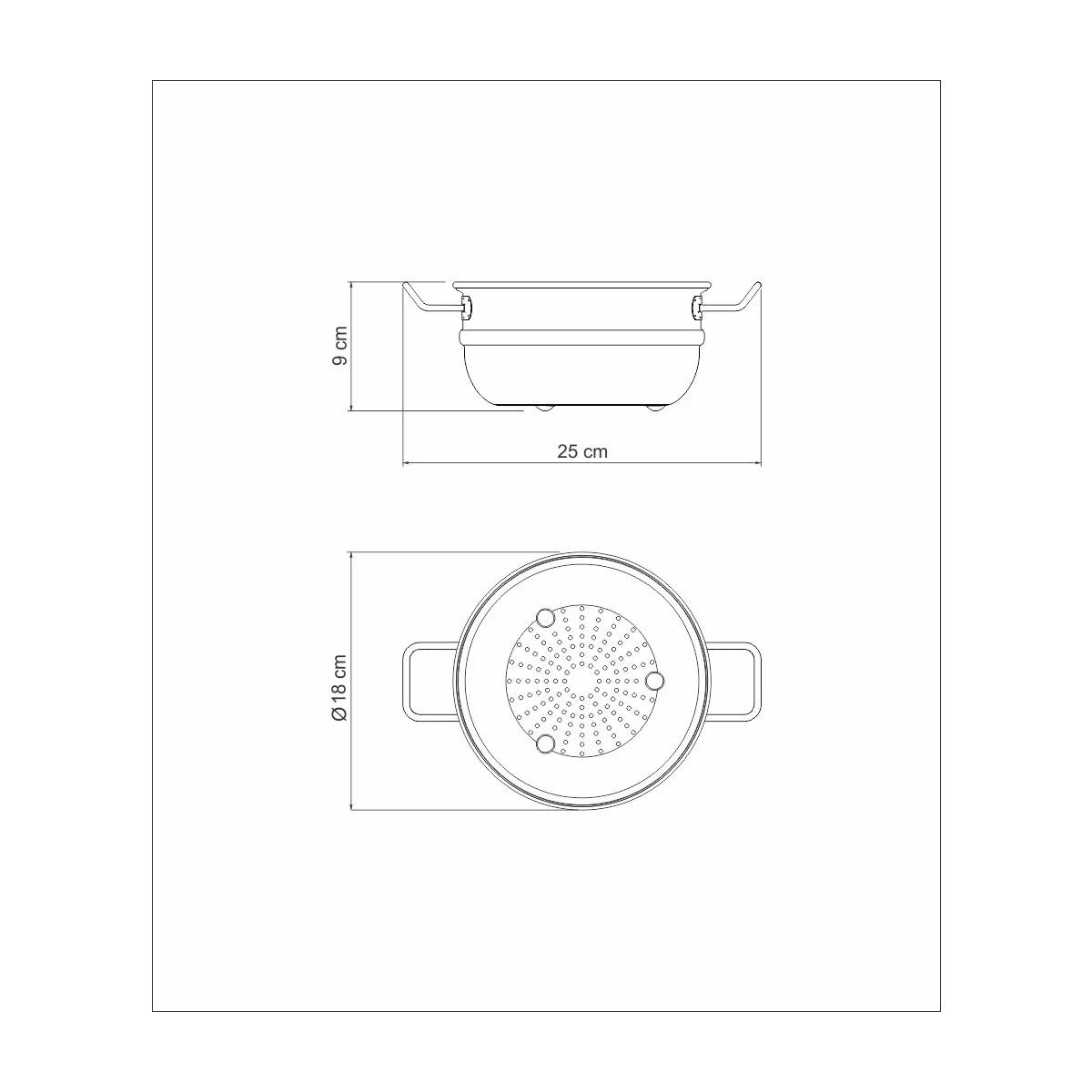 Cozi-Vapore Aço Inox Professional 16cm 1,6L  - Sua Casa Gourmet e Cia