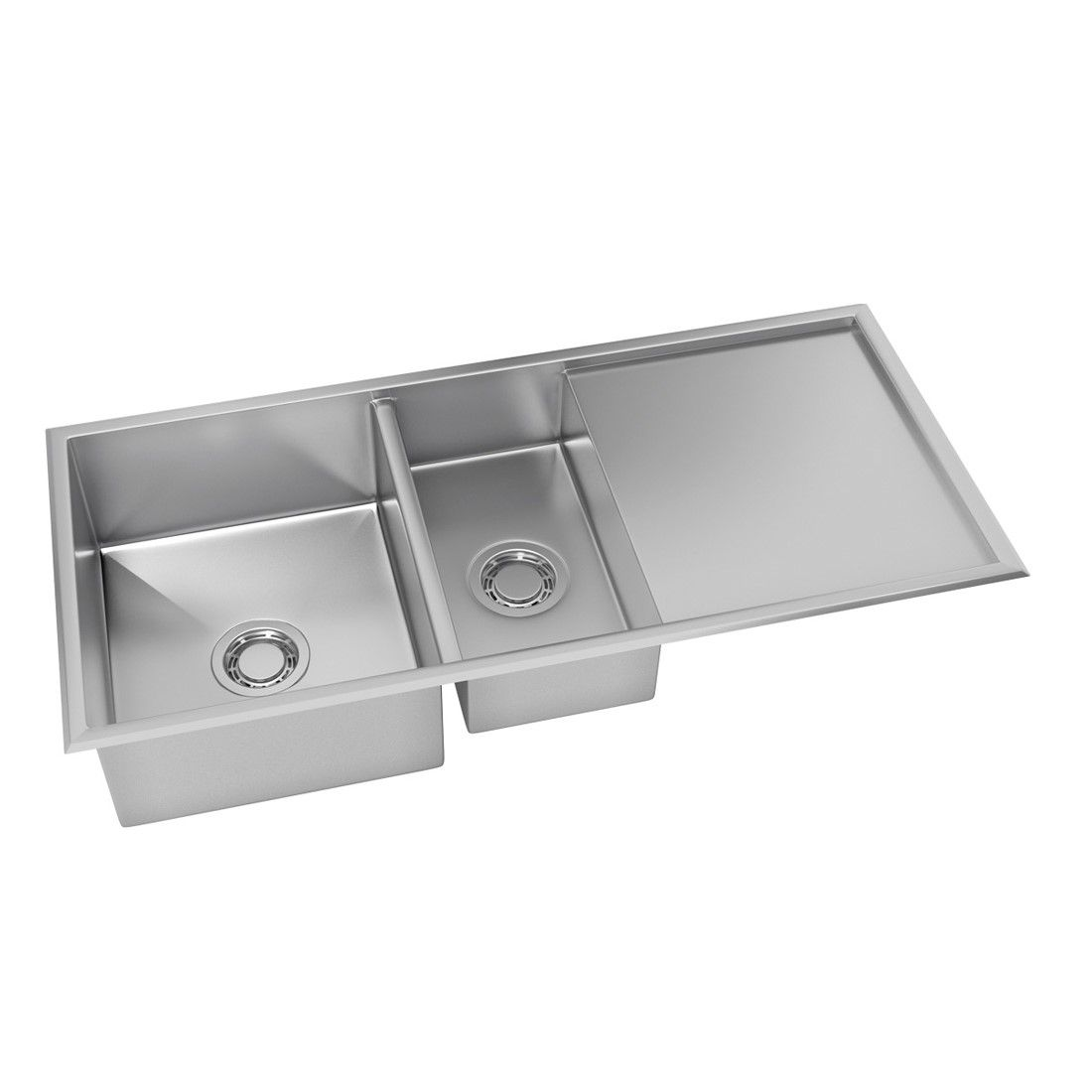 Cuba para Cozinha DeBacco Quadratino Reversível Inox 100x45