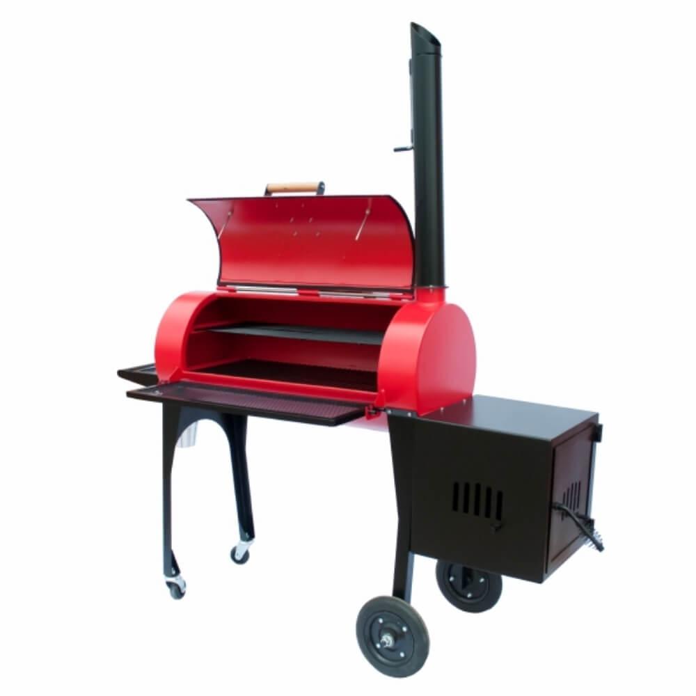 """Defumador New Smoker 16"""" Cor Vermelha Kings Barbecue  - Sua Casa Gourmet e Cia"""
