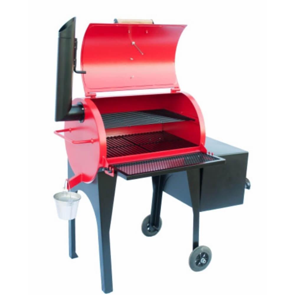 Defumador Smoker Lolita Cor Vermelha Kings Barbecue  - Sua Casa Gourmet e Cia