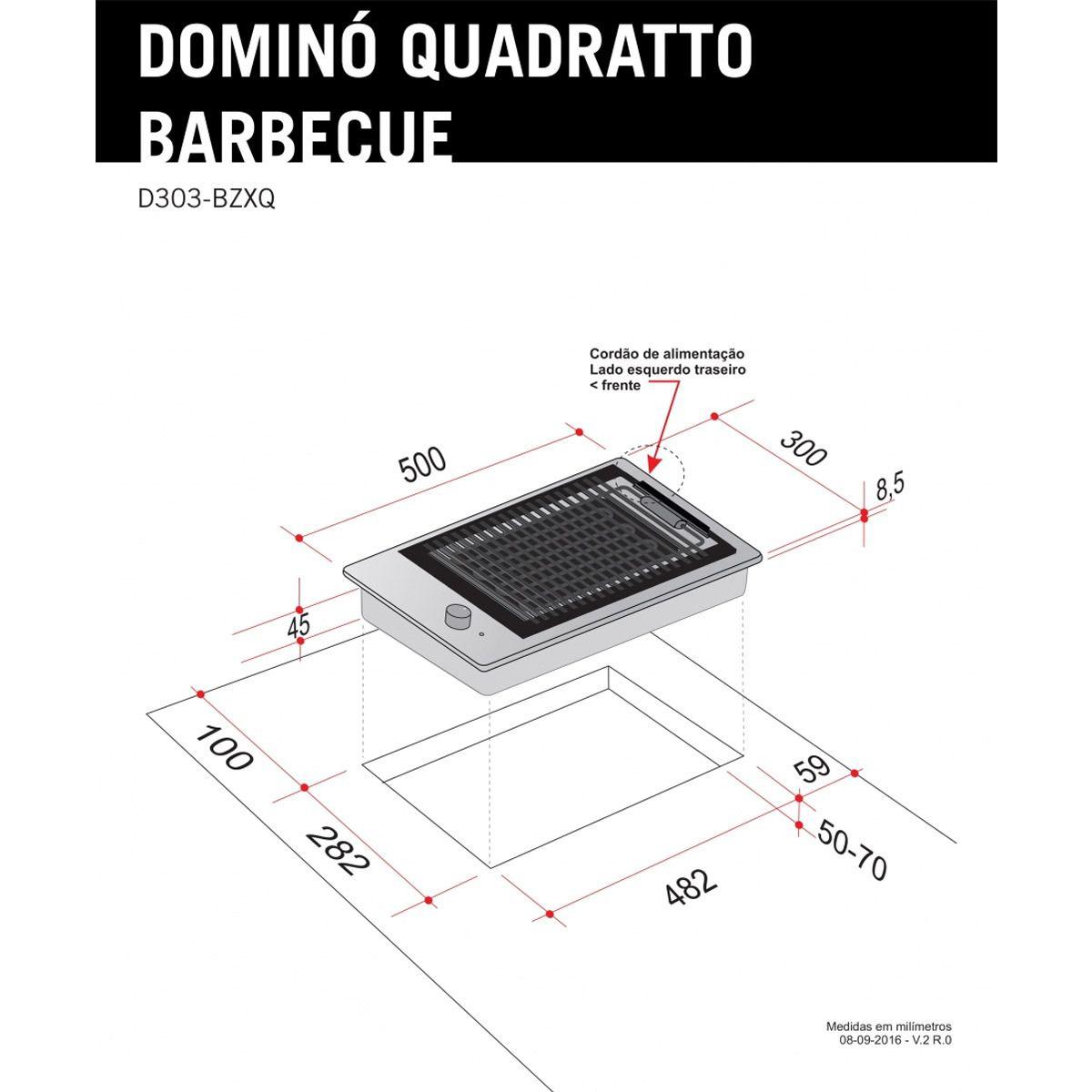 Dominó Elettromec Quadratto Barbecue 30cm 220V