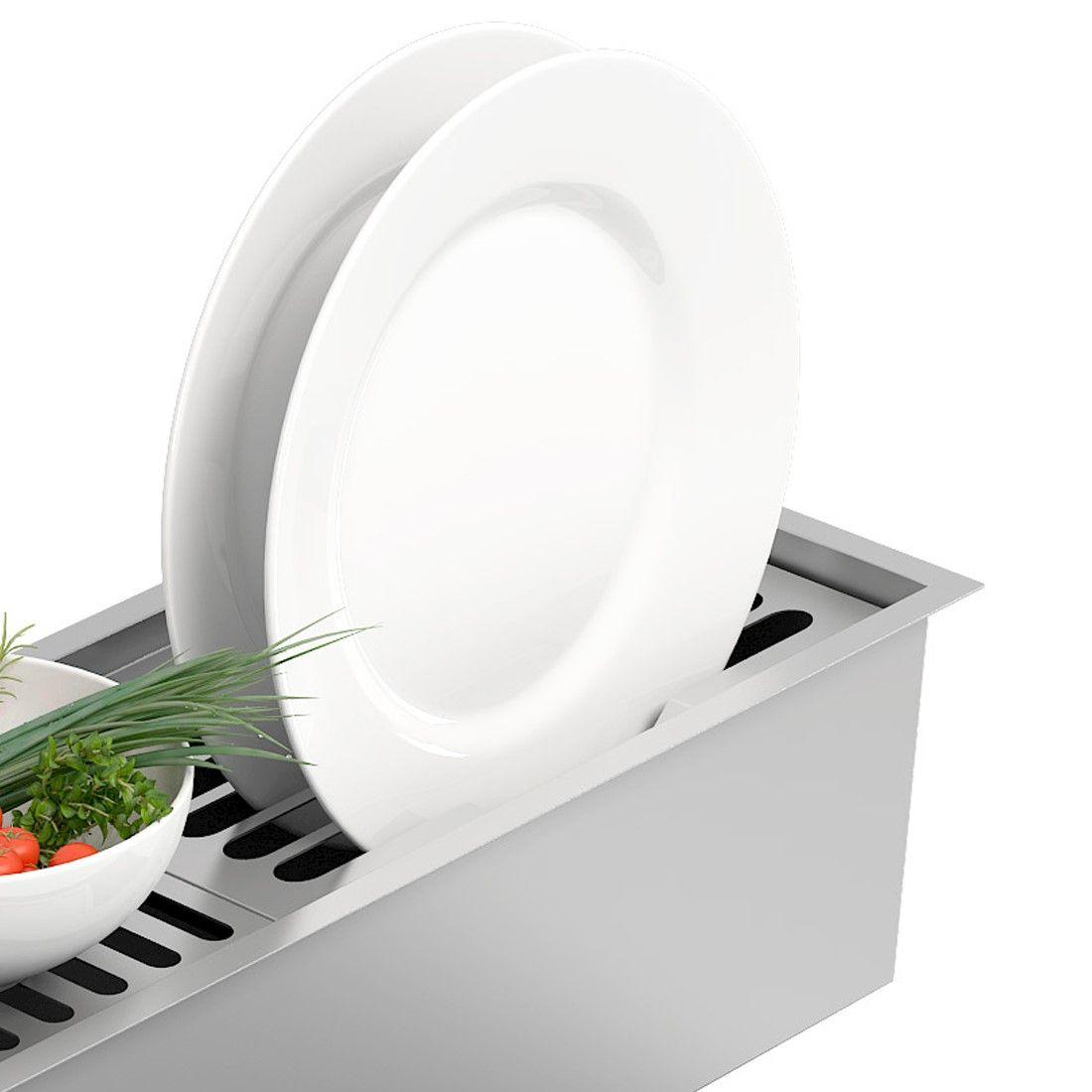 Escorredor de Pratos DeBacco Inox 30cm - 20.04.00118  - Sua Casa Gourmet e Cia