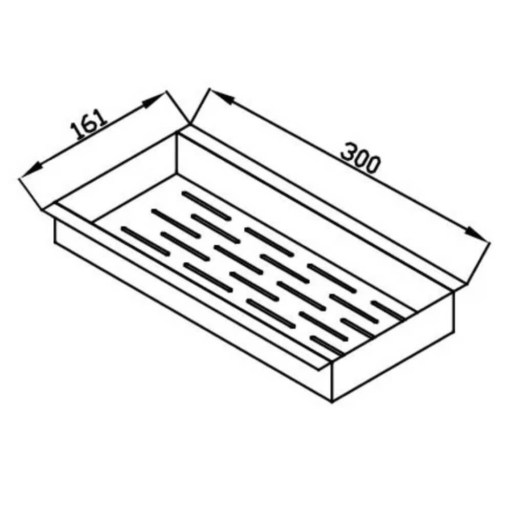 Escorredor Utensílios Debacco Inox 30cm - 20.04.00143  - Sua Casa Gourmet e Cia
