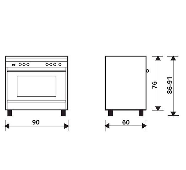 Fogão Matrix Glem 5 Bocas com Forno a Gás 120 Litros Inox 90cm 220V