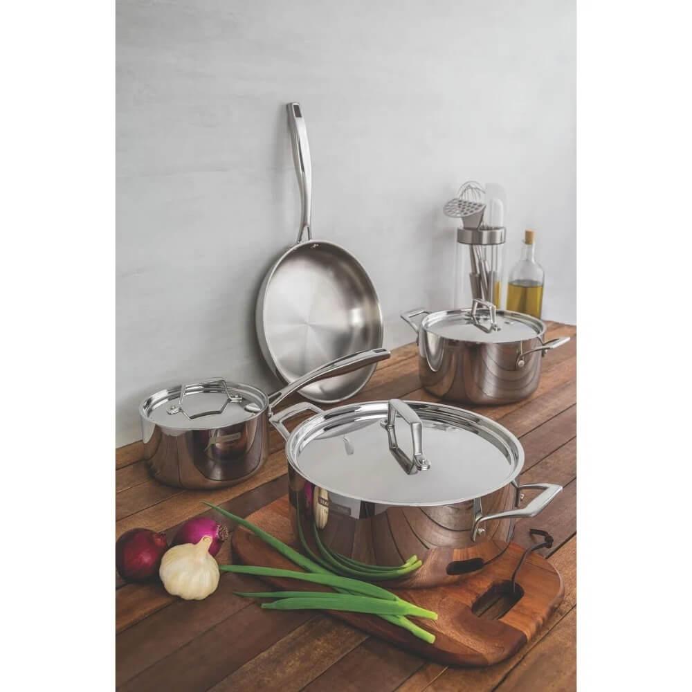 Frigideira Grano em Aço Inox 26cm 2,2L Tramontina  - Sua Casa Gourmet e Cia