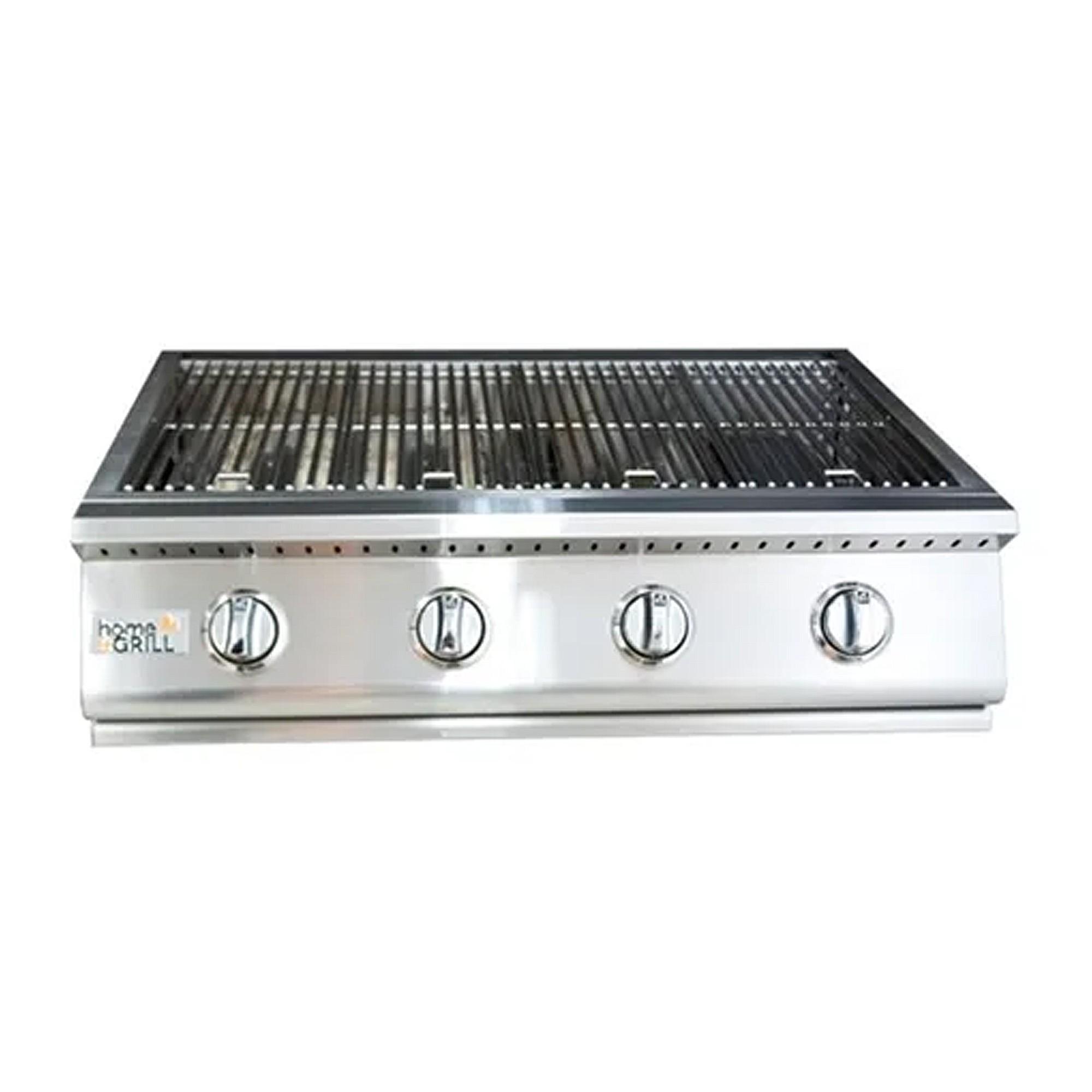 Grelhador Premium Home & Grill HG-4B Inox 304 (4 bocas)  - Sua Casa Gourmet e Cia