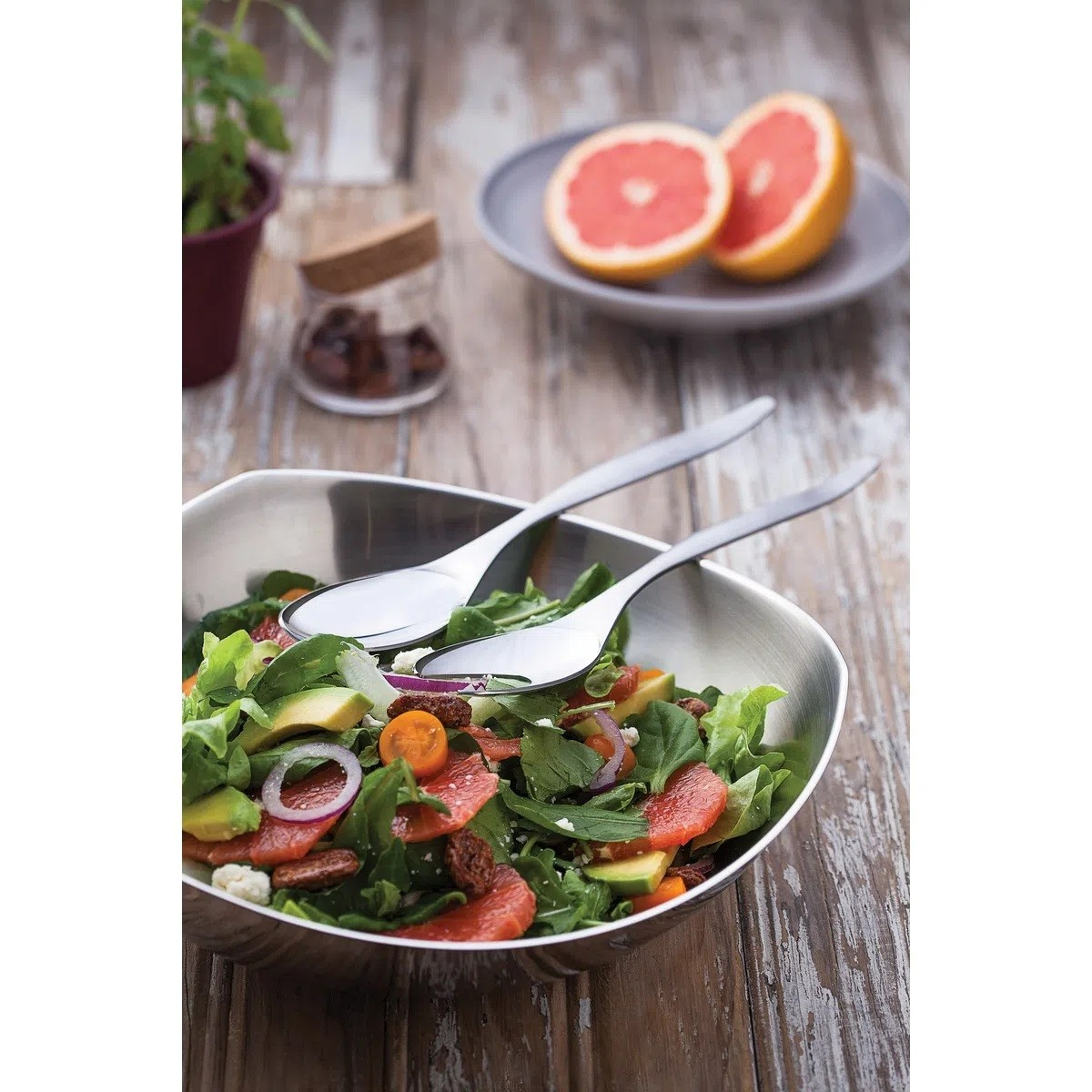 Jogo Aço Inox Para Salada 3pcs TR3S  - Sua Casa Gourmet e Cia