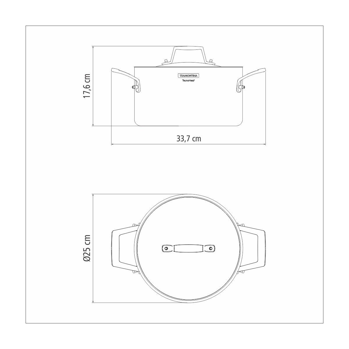 Jogo Caçarola Tramontina Funda Grano 5,8l 24cm em Inox e Porta Utensílios  - Sua Casa Gourmet e Cia