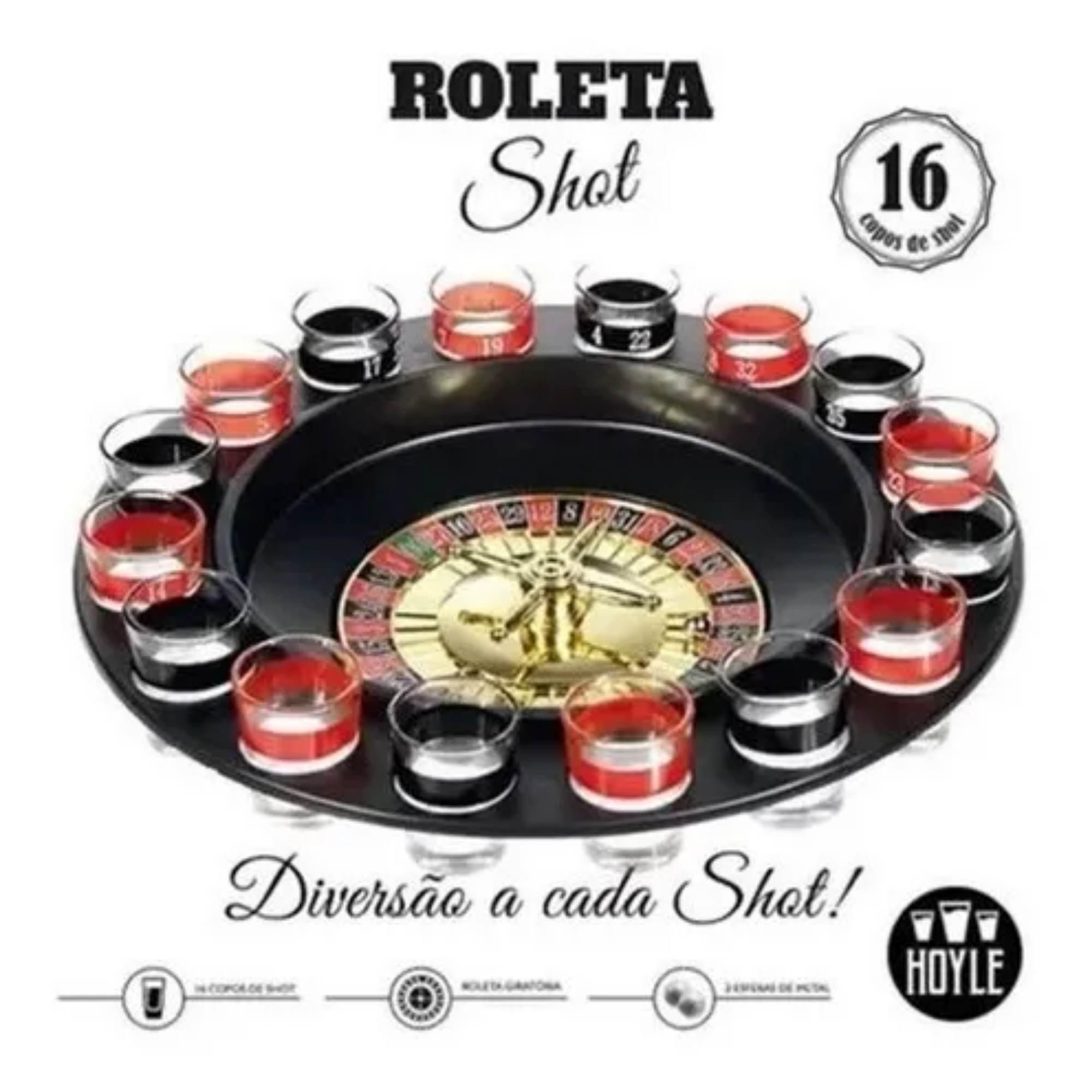 Jogo Roleta Shot 16 copos Hoyle Games  - Sua Casa Gourmet e Cia