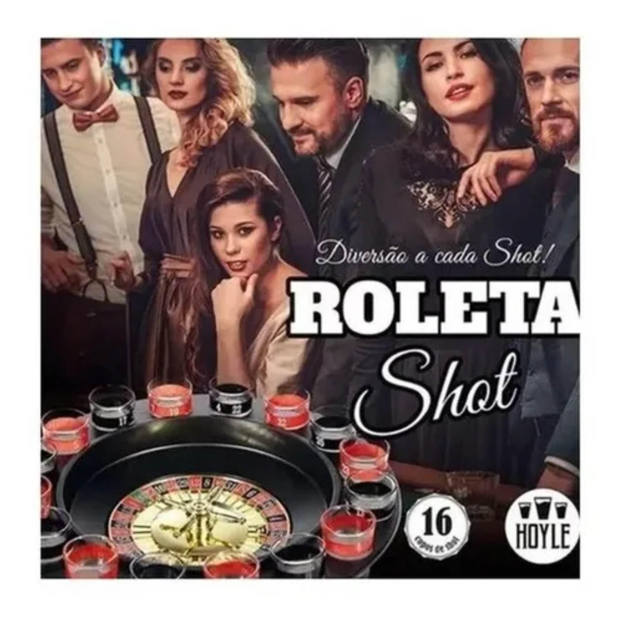 Jogo Roleta Shot 16 copos  - Sua Casa Gourmet e Cia