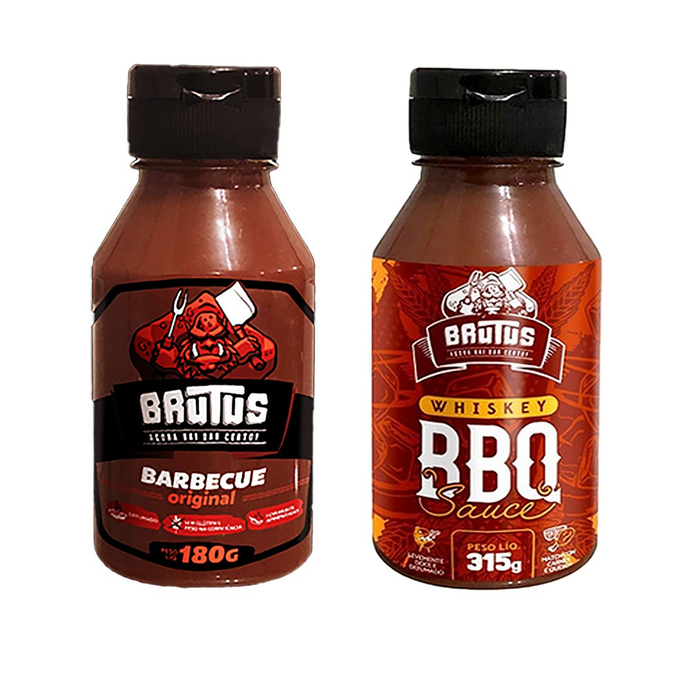 Kit 2 Molhos Brutus Barbecue Sabor Original e Sabor Whiskey