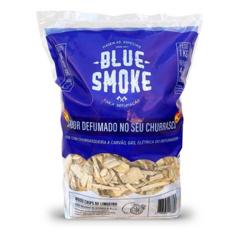 Kit 4 Lascas de Lenha Para Defumação Blue Smoke 1kg - Limoeiro  - Sua Casa Gourmet e Cia