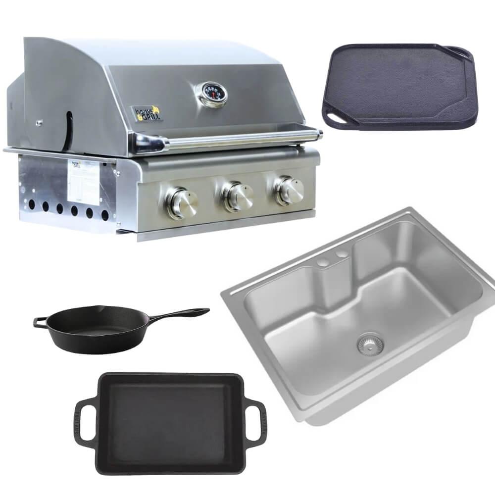 Kit Área Gourmet Churrasqueira a Gás HG Smart K8  - Sua Casa Gourmet e Cia