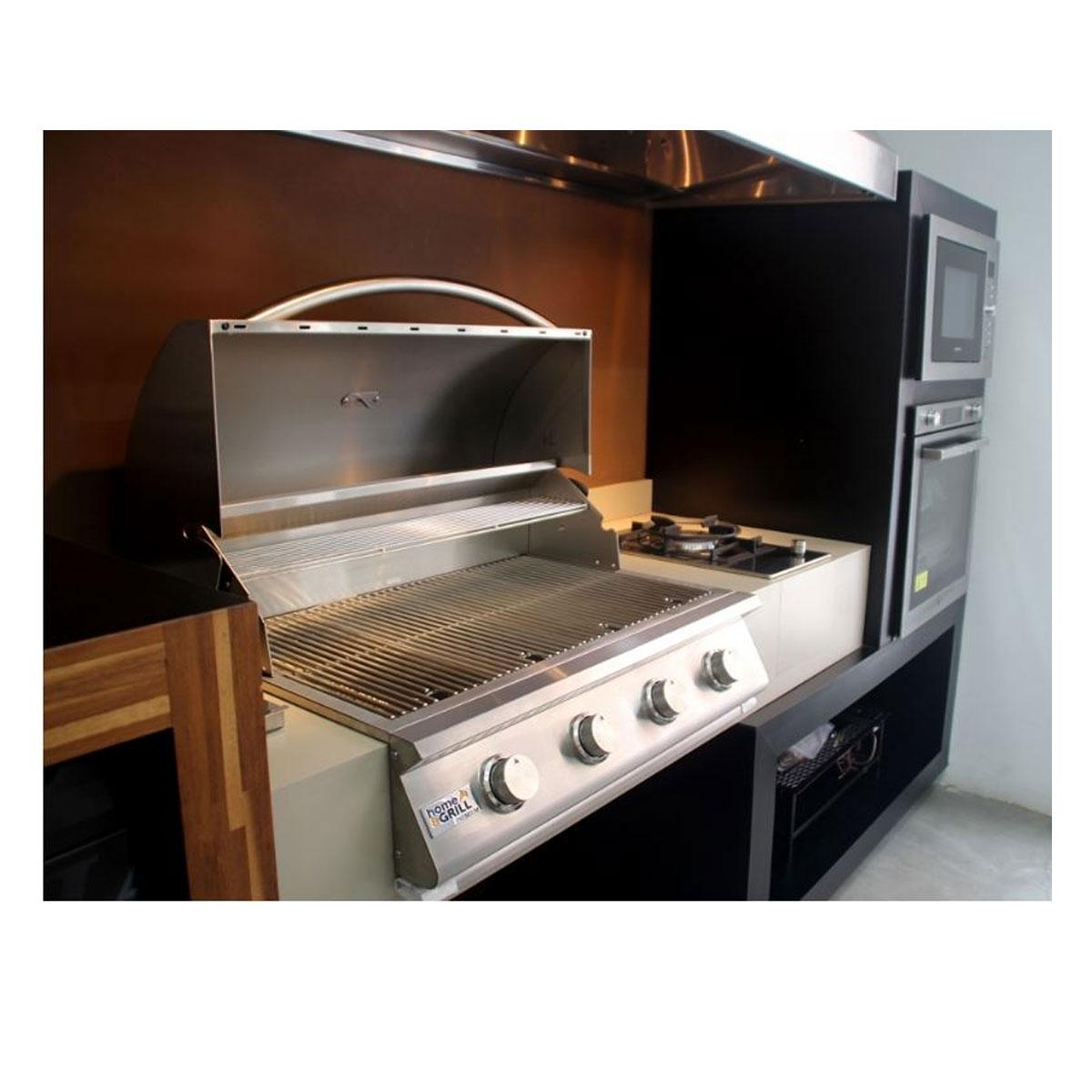 Kit Área Gourmet Churrasqueira a Gás Home&Grill Premium K4  - Sua Casa Gourmet e Cia