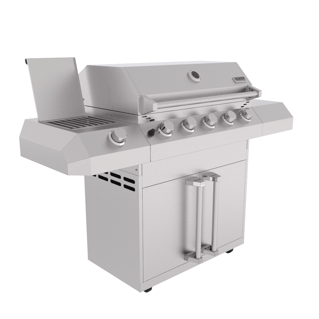 Kit Área Gourmet Churrasqueira Gabinete 6 Queimadores K16  - Sua Casa Gourmet e Cia
