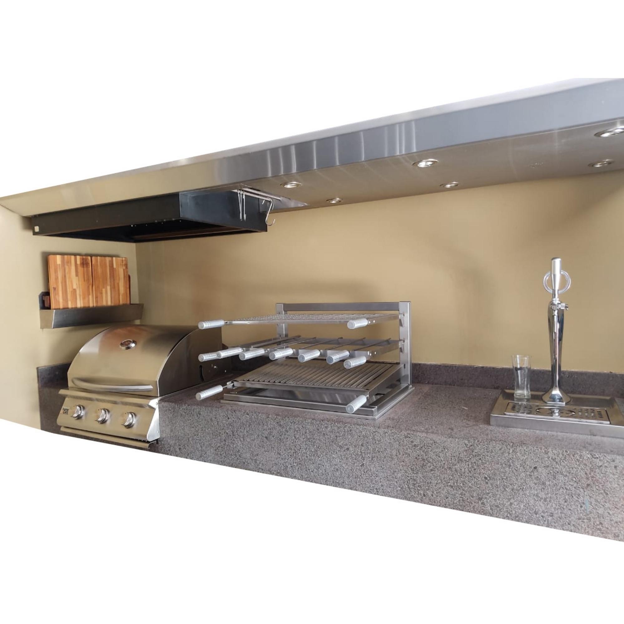Kit Grill Master 70x50  - Sua Casa Gourmet e Cia