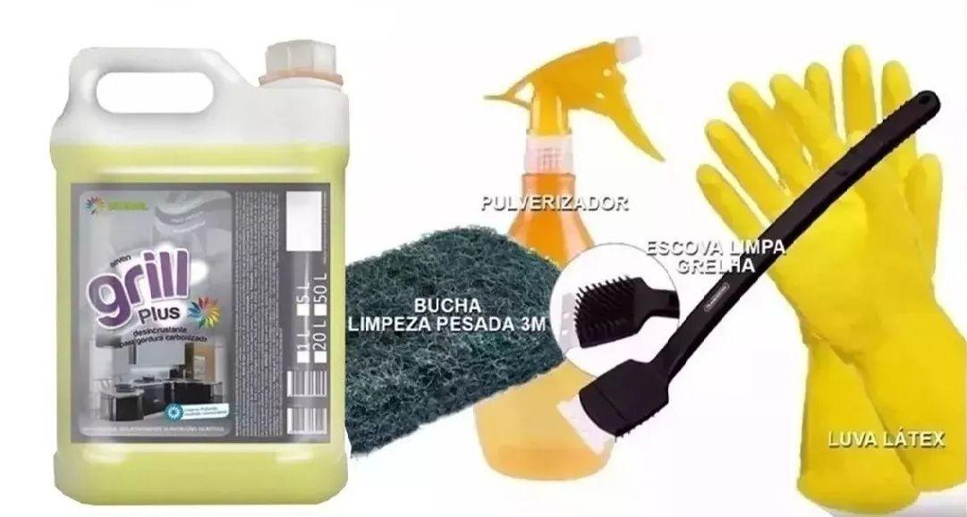 Kit Limpeza Pesada Para Churrasqueira