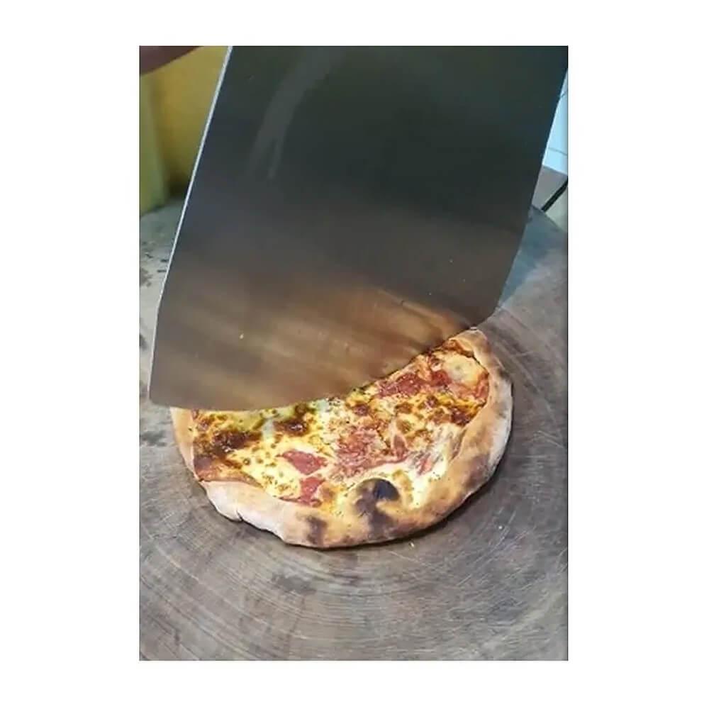 Kit Pá Cortadora Pizza Dupla Função Inox Premium e Pedra Cerâmica  - Sua Casa Gourmet e Cia