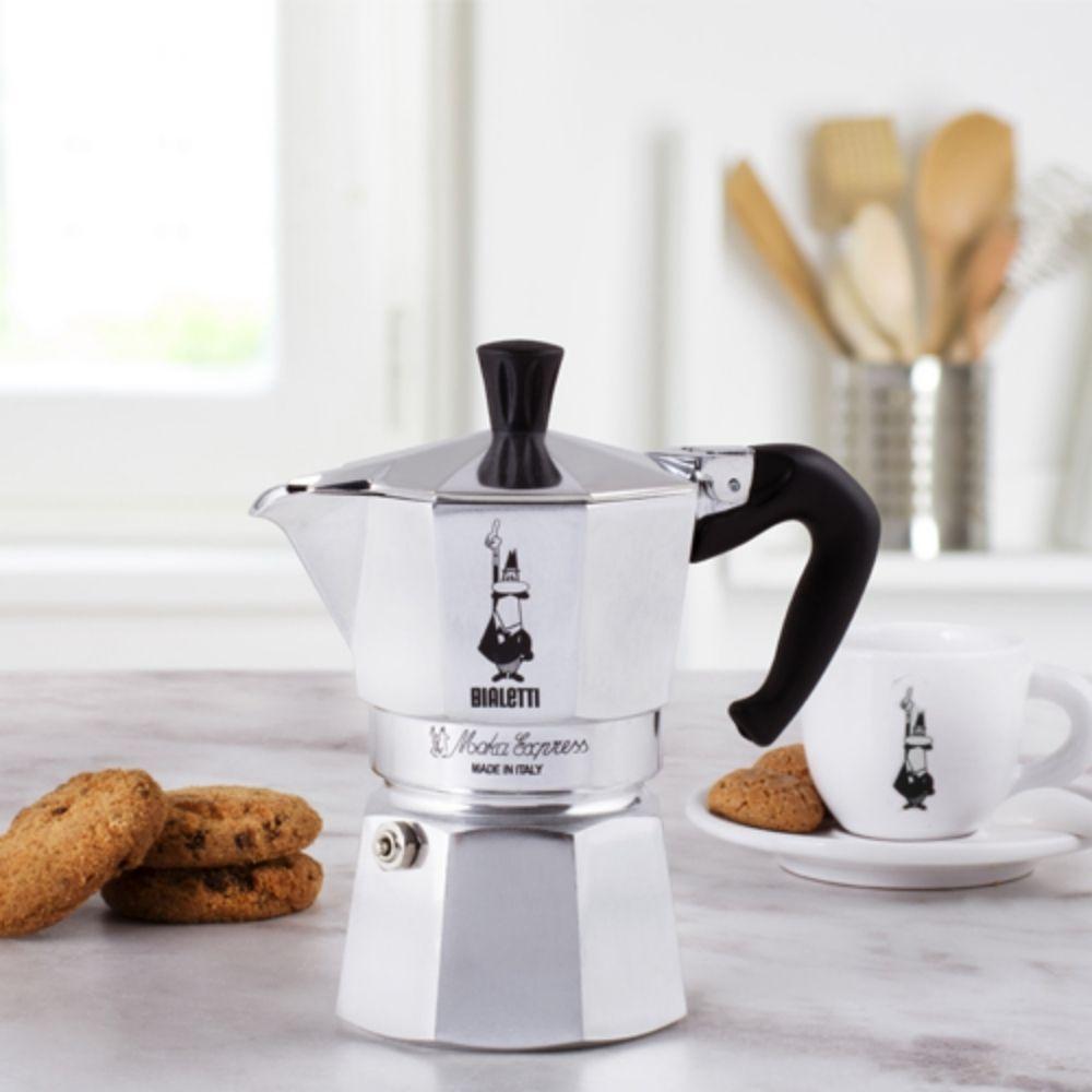 Cafeteira 3 xícaras e Moedor de Café com Cremeira Ttttocrema Bialetti  - Sua Casa Gourmet e Cia