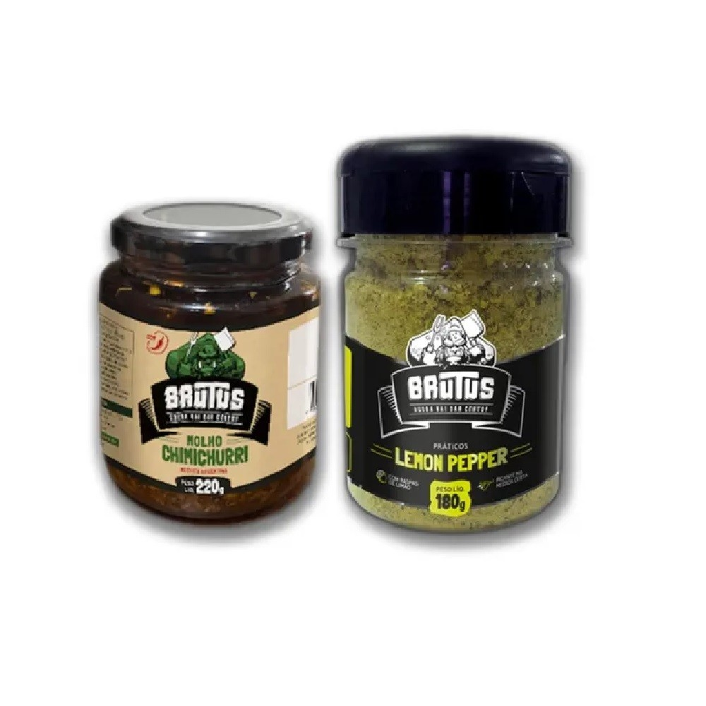 Kit Tempero Lemon Peper E Molho Chimichurri