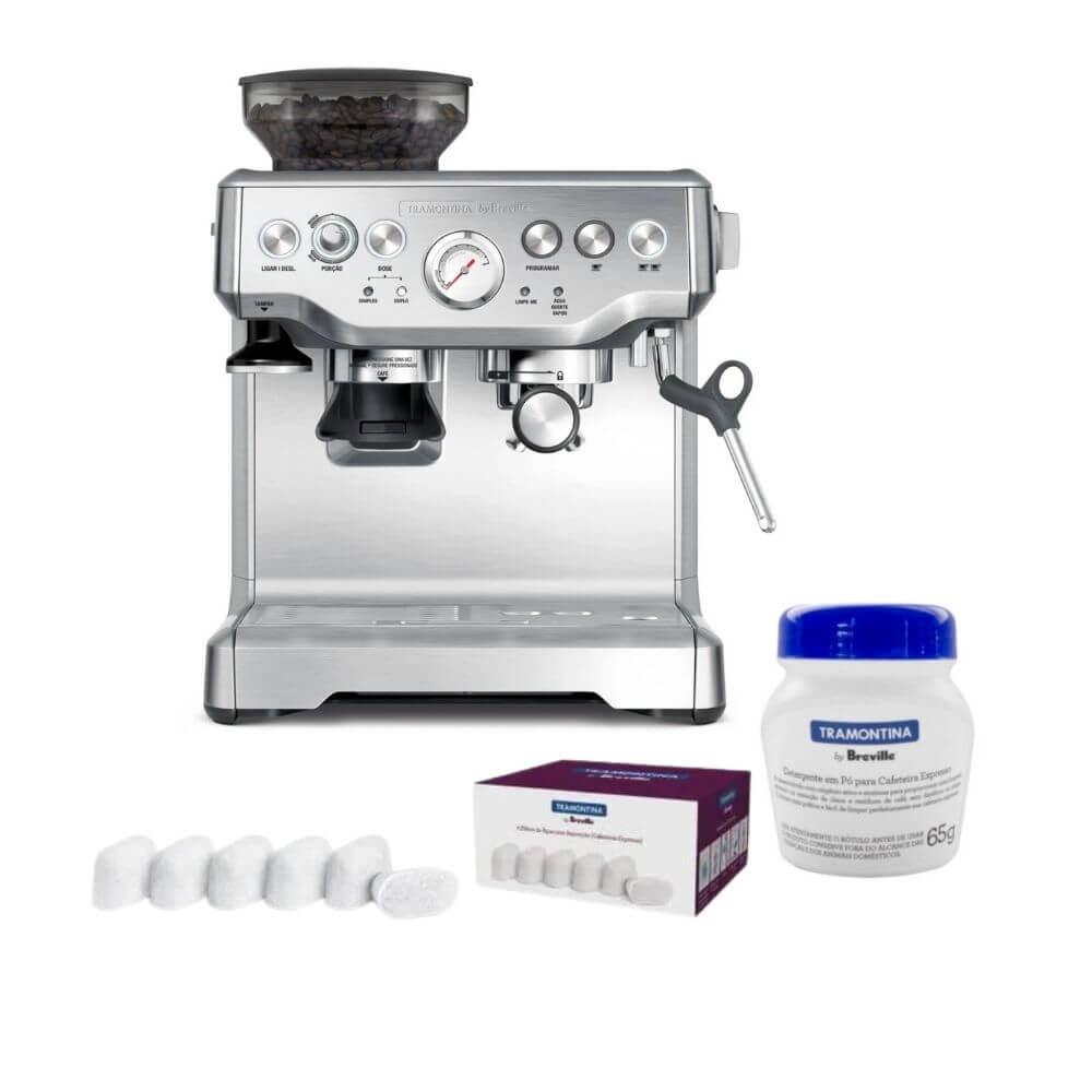 Cafeteira Breville 110V  Detergente  Filtros Para Água Tramontina  - Sua Casa Gourmet e Cia