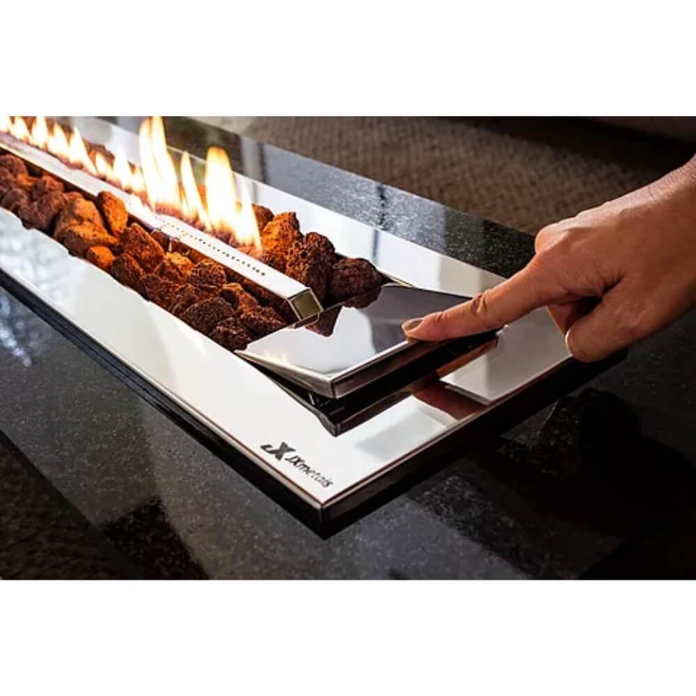 Lareira a Gás Stile em Inox LGS90 GN JX Metais  - Sua Casa Gourmet e Cia