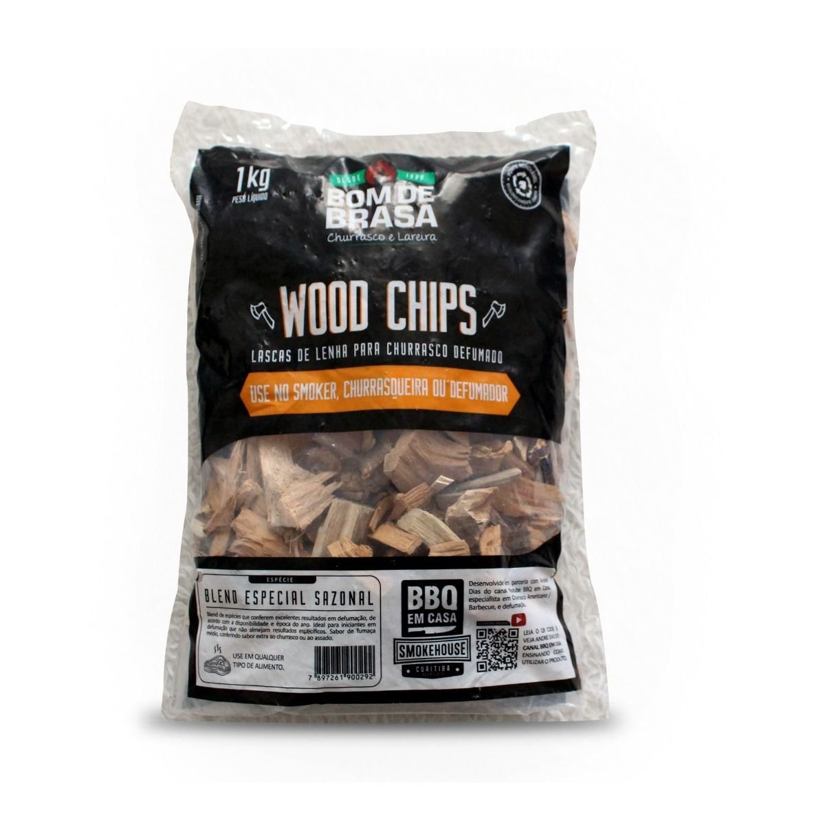 Lascas de Lenha de Madeira Para Defumação Woods Chips Blend Especial Sazonal - 1 KG