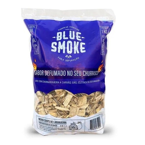 Lascas de Lenha Para Defumação Blue Smoke 1kg - Laranjeira  - Sua Casa Gourmet e Cia
