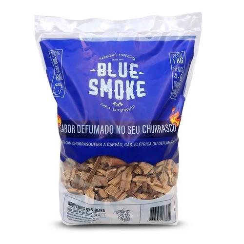 Lascas de Lenha Para Defumação Blue Smoke 1kg - Videira