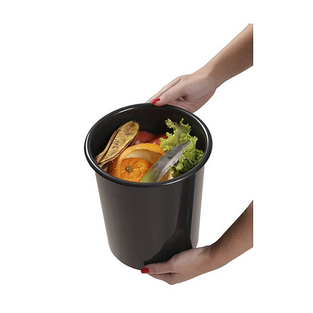 Lixeira GhelPlus Redonda Inox Acetinado Embutir e Balde Plástico 5L  - Sua Casa Gourmet e Cia