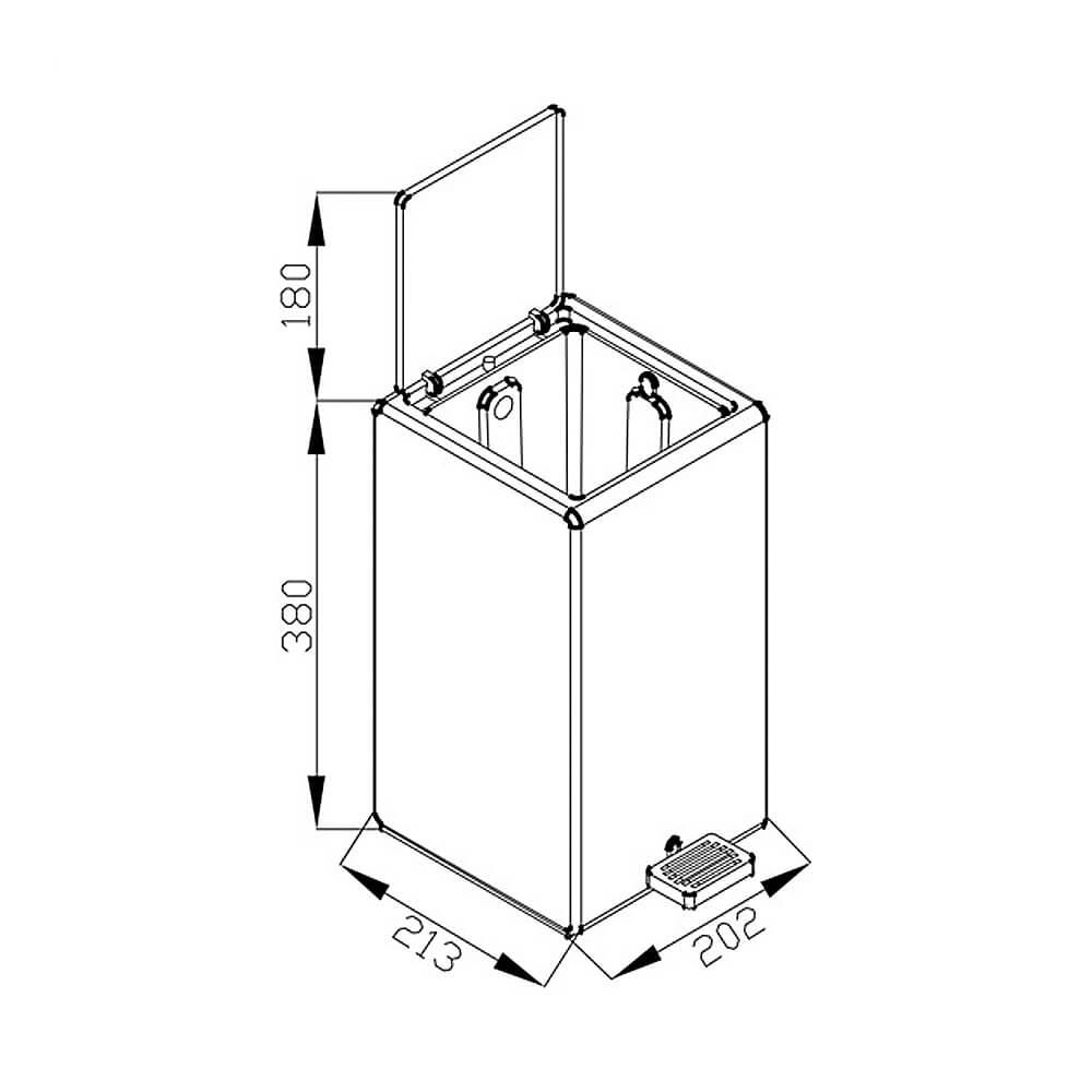 Lixeira GhelPlus Retangular Soft Pedal e Balde Plástico 7L Branca  - Sua Casa Gourmet e Cia