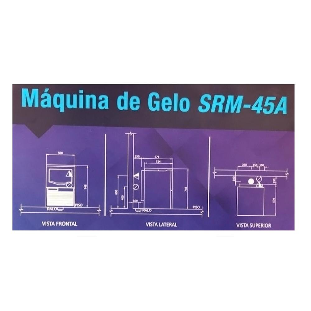 Máquina de Gelo em Cubos 41kg Macom - Hoshizaki  - Sua Casa Gourmet e Cia
