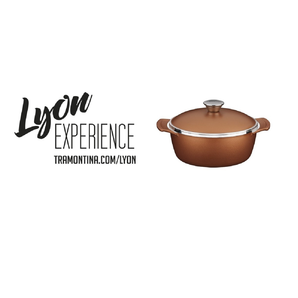 Mini Cocotte Alumínio 10cm Lyon c/ Tampa Bronze Tramontina  - Sua Casa Gourmet e Cia