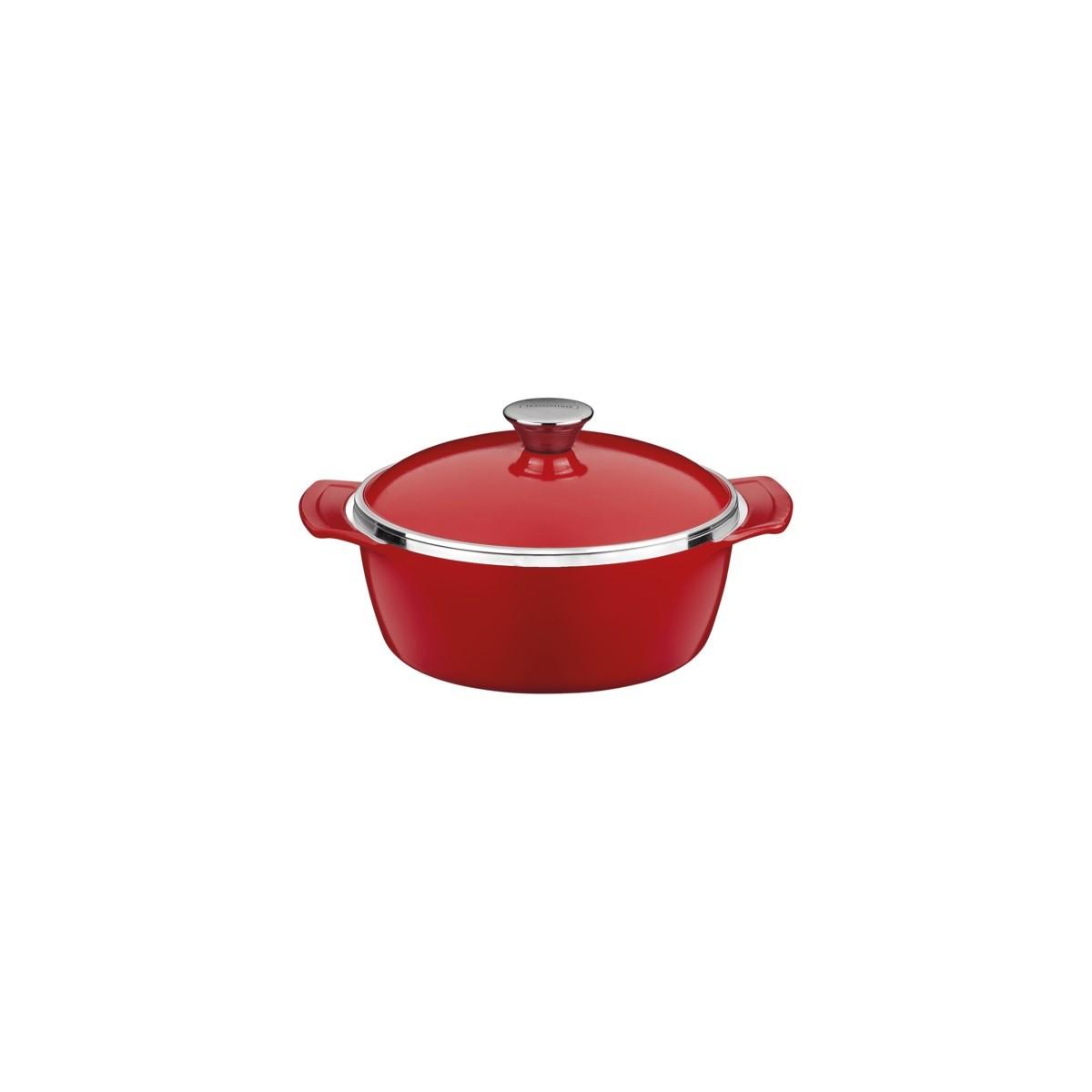 Mini Cocotte Alumínio Antiaderente 10cm Com Tampa Lyon Vermelha  - Sua Casa Gourmet e Cia