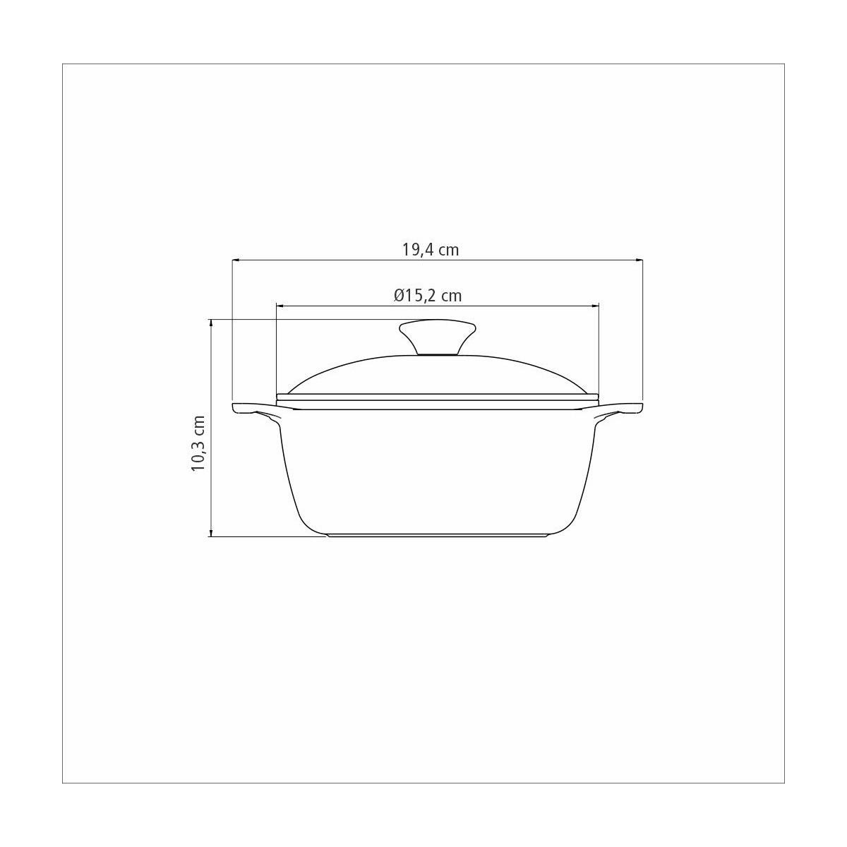 Mini Cocotte Alumínio Antiaderente 14cm Com Tampa Lyon Preta  - Sua Casa Gourmet e Cia