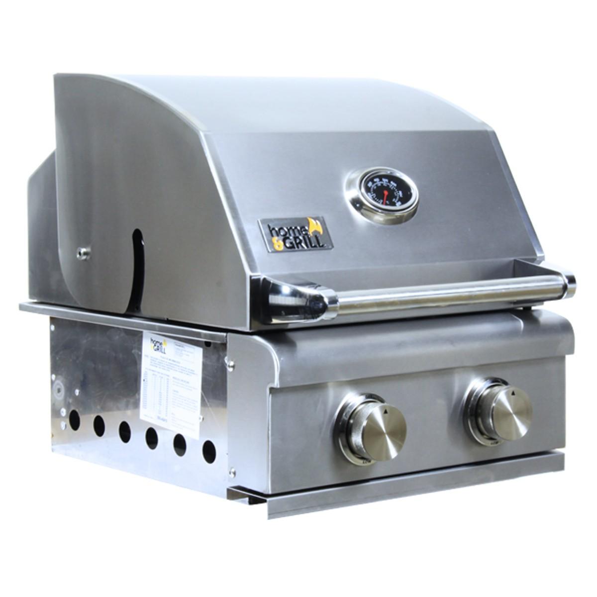 Churrasqueira a Gás Home e Grill Smart HG-2BS - 2 Queimadores - 100% Inox 304