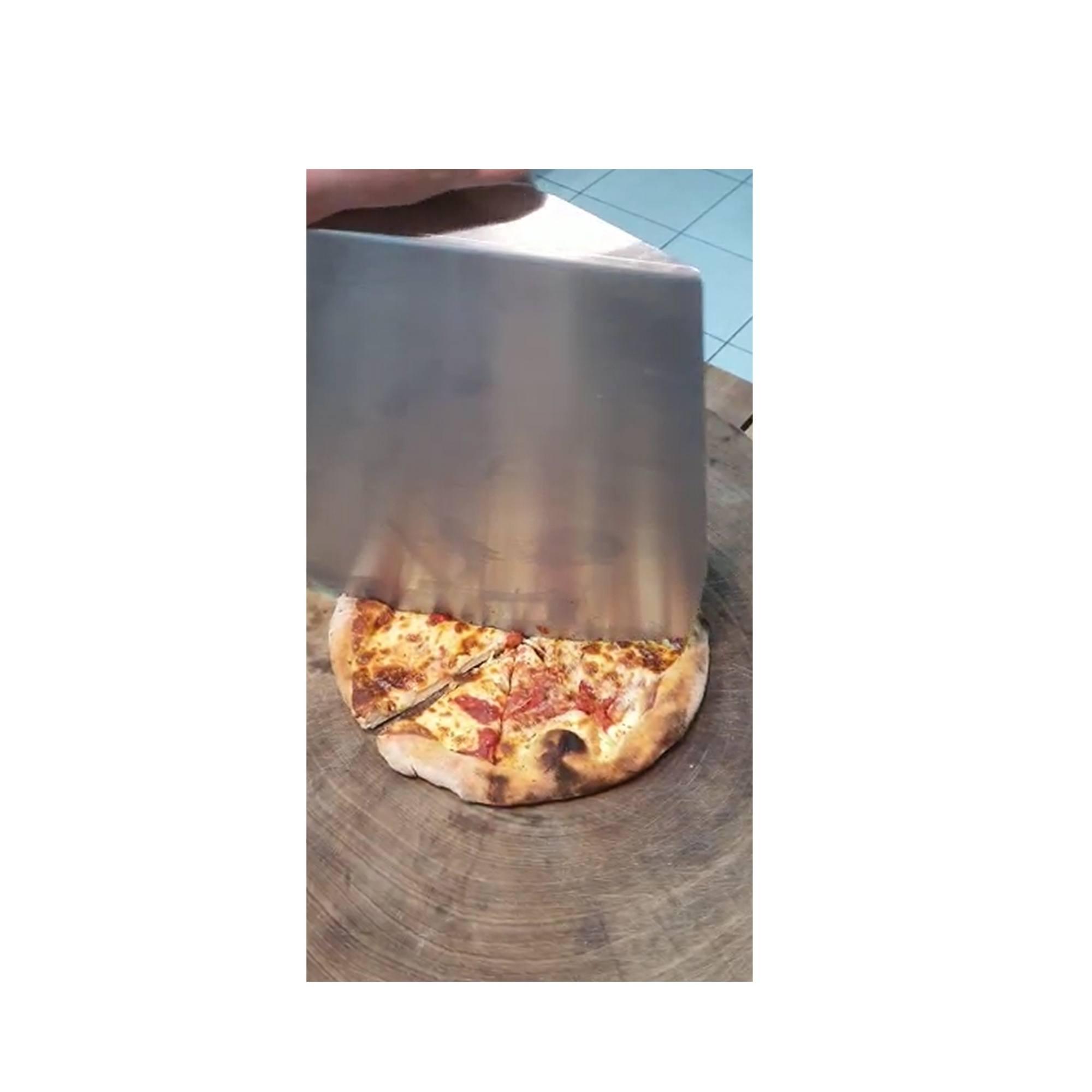 Pá e Cortadora de pizza Dupla função Inox Premium  - Sua Casa Gourmet e Cia