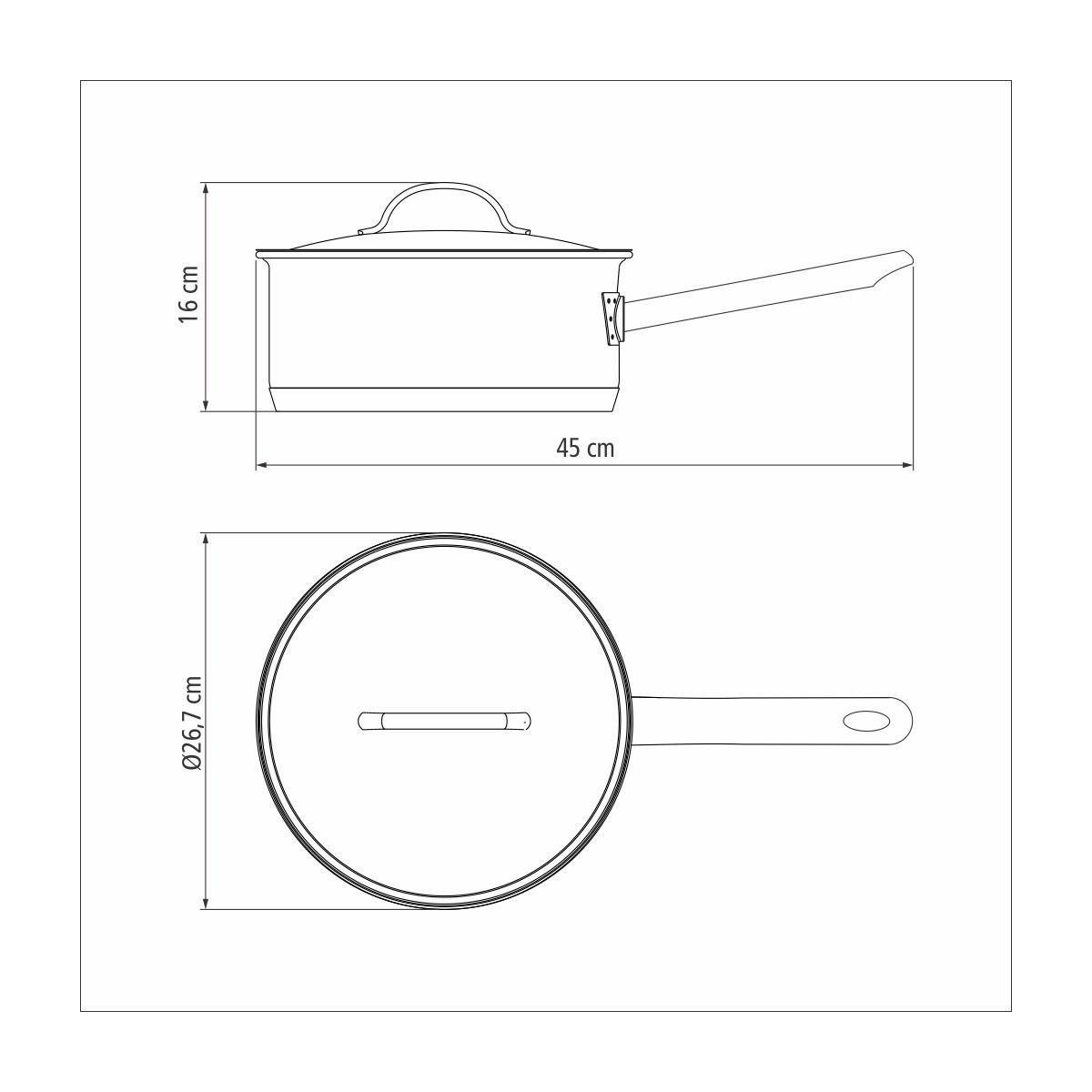 Panela Aço Inox Professional 24cm Com Tampa 4,7L Tramontina  - Sua Casa Gourmet e Cia