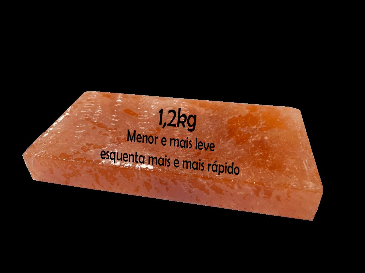 Pedra de Sal Rosa do Himalaia 1,2 Kg  - Sua Casa Gourmet e Cia