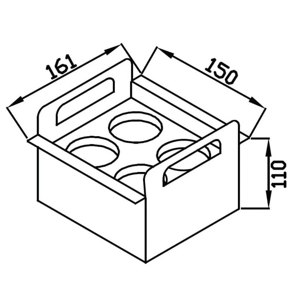 Porta Condimentos Debacco Inox 15cm - 20.04.00144  - Sua Casa Gourmet e Cia