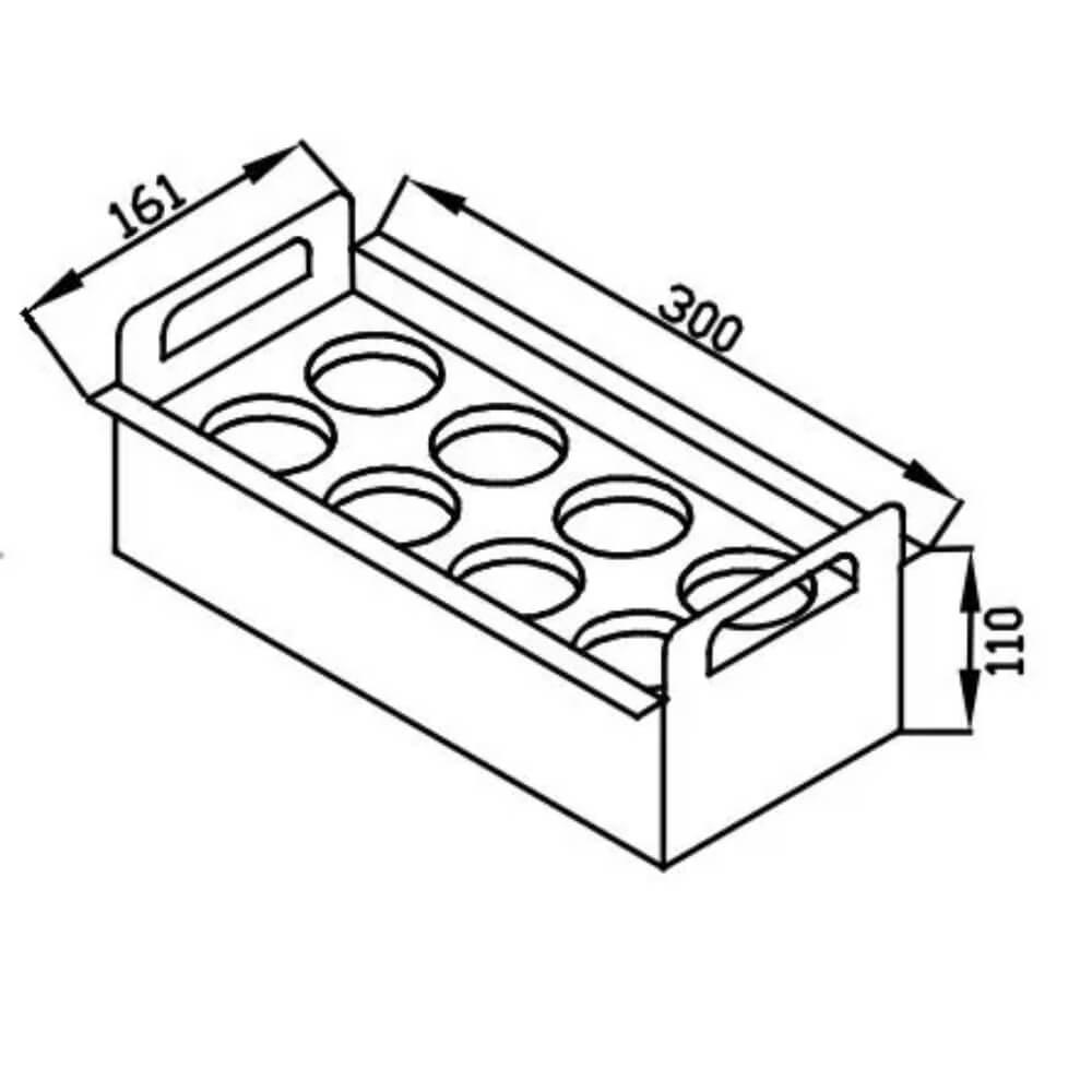 Porta Condimentos Debacco Inox 30cm - 20.04.00145  - Sua Casa Gourmet e Cia