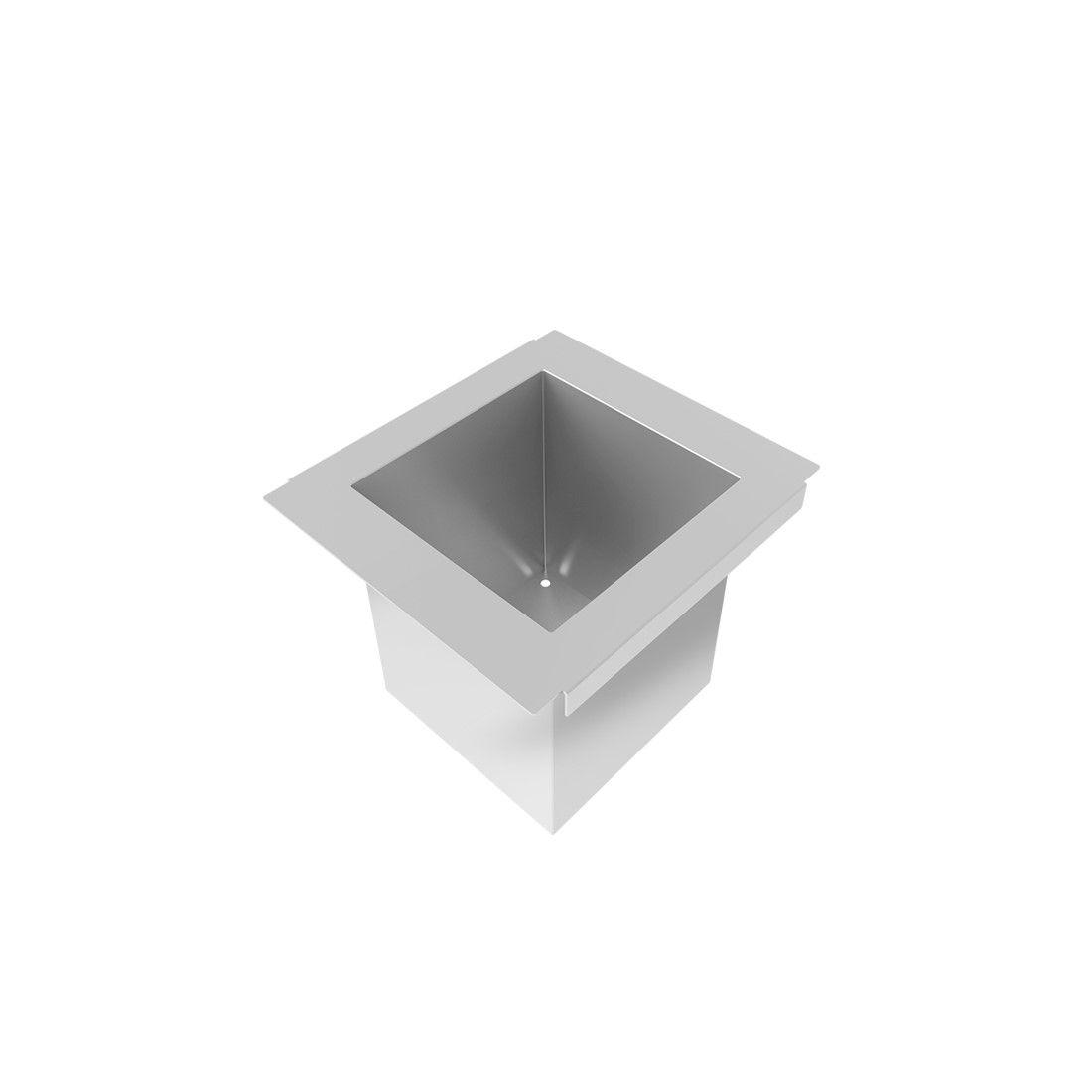 Porta Potes Mini Horta DeBacco Inox 15cm  - Sua Casa Gourmet e Cia